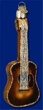GUITAR OLD WORLD CHRISTMAS BLOWN GLASS MUSICAL STRING INSTRUMENT ORNAMENT 38010