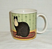 Warren Kimble Mug Cup CAT COLLECTION Vtg 2000 Black and White