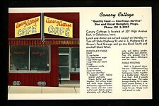 Recipe US postcard Canary Cottage Cafe Oskaloosa IA, Chocolate Fudge Advertising