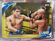 2019 Topps Knockout UFC Henry  Cejudo #'d 1/1 GOLD MUST SEE CARD super rare!!!!