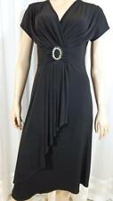 NEW SALOOS COLLECTION BLACK EVENING STRETCH DRESS COCKTAIL PARTY dinner  DRESS L