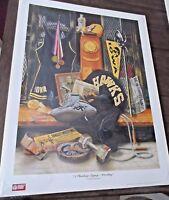 """Doug Knutson """"A Hawkeye Legacy- """"Wrestling""""   S/N limited edition 18 x 24 print"""