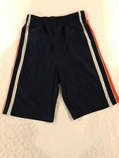 Boys Navy Blue Simply for Sports Shorts with Orange/white stripes size 6