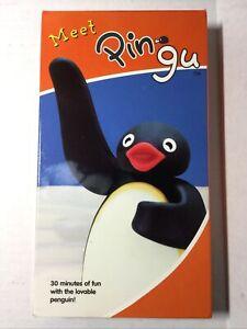 Meet Pingu VHS Rare Animated Penguin Kids Cartoon 2003