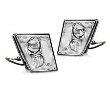 Eagle Eye Fog Lights Driving Lamps Pair Chrome For 2003-2015 Volvo VN/VNL