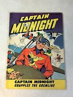 CAPTAIN MIDNIGHT #4 GRAPPLES THE GREMLINS, FIGHTS THE AXIS, 1943, AWESOME