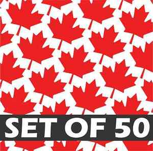 (50X) MAPLE LEAFS Vinyl Decal Sticker Canada Toronto Maple Leaf Flag iPhone 7