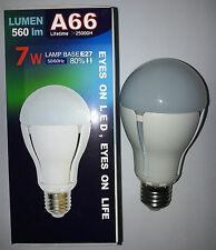 LAMPADA LAMPADINA LED(NO RISPARMIO ENERGETICO) 7W GLOBO 560 LUMEN COOL WHITE E27