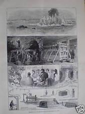 Soplado del infierno-Gate rocas East River de Nueva York 1876