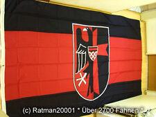 2x Sudetenland mit Wappen Flagge Fahne Fahnen Flaggen XXL NEUWARE Rot Schwarz