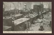 More details for bucks wolverton market hall fire 1906 ppc view from refreshment hall