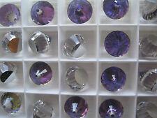 Vintage Swarovski Crystal Rhinestones a.4866 Heliotrope Z 14mm 24 pieces SPARKLE
