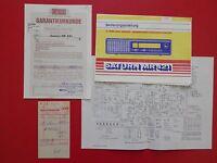 altes RFT Prospekt SATURN MR 421 Radio Bad Blankenburg von 1989 ( 15359