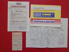 Ancien RFT prospectus Saturne Mr 421 Radio Bad Blankenburg de 1989 (15359