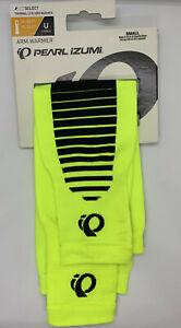 BNWT Mens Womens Cycling Pearl Izumi Thermal arm warmers neon yellow Sm Unisex