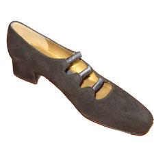 New $200 WEITZMAN Low Heels Shoes 6.5SS BLACK SUEDE Smart Black 6.5 4A PUMPS