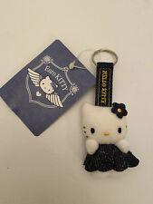 Hello Kitty Euro Sanrio Bag Clip Keyring Charm Soft Plush Toy New Vintage Denim