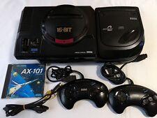 SEGA Mega Drive and MEGA-CD 2 console set(GENESIS)/with,2 pads,,AV cable,Game-C-