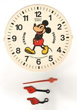 "Walt Disney Mickey Mouse -Clock Dial & Hands  by Bradley Time -5.5"" Diameter"