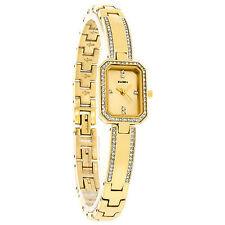 Elgin Crystal Ladies Gold Tone Half Bangle Bracelet Dress Watch EG7005