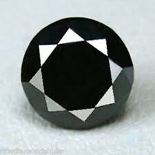 1 pcs 7.0mm Natural Black Loose Diamond, Round Brilliant Diamond, Jewel Use Nr