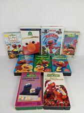 Vintage Sesame Street Elmo VHS Lot Of 9 Learning About Letters Elmocize