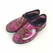 Sloggers Gardening Clogs Womens Size 9 Waterproof Burgundy Floral