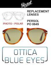 Lenti di Ricambio PERSOL PO 0649 filtri Replacement Lenses 83 GREEN PHOTO POLAR