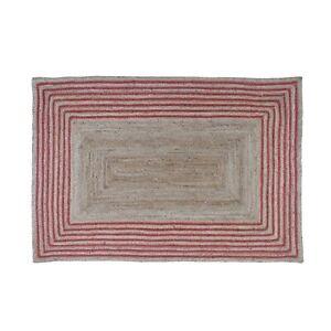 Oussum Modern Area Rug Jute Carpet Rectangle Weave Bedroom Hallway Floor Rugs
