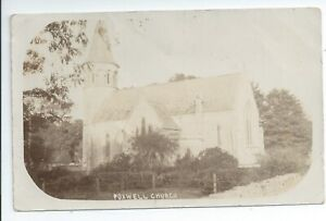 Real photo postcard of Poxwell church  nr  Weymouth Dorset in good condition