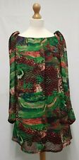 AX Paris Dress Shift Dress Size 12 Black Red & Green Printed Dress Mini Dress