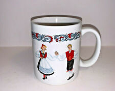 Figgjo Hardanger Dancers Scandinavian Ceramic Coffee Mug Norway