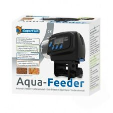 Superfish Aqua Feeder Black - Automatic Aquarium Feeder Holiday Fish Food
