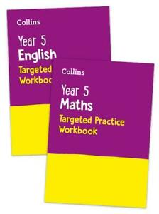 KS2 YEAR 5 SATS MATHS AND ENGLISH TARGETED WORKBOOK 2 BOOK BUNDLE