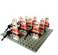 10pcs Red Clone Trooper Minifigures - Space War Captain Rex Lego MOC