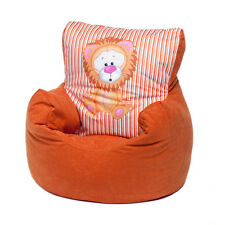 Orange Lion Childrens Character Filled Beanbag Kids Bean Bag Chair Bedroom