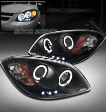 05-10 CHEVY COBALT/07-09 G5 CCFL HALO LED PROJECTOR HEADLIGHTS BLACK LEFT+RIGHT