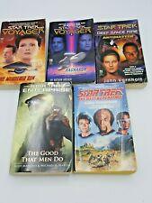 Lot of Star Trek paperback books: Ds9, Enterprise, Tng, Voyager, five (5) total