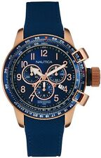 Men's Nautica Navy Blue Chronograph Silicon Strap Watch NAD28500G