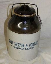 Antique Stoneware Pickle Crock – Advertising Chicago Illinois