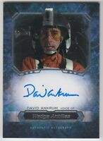 2016 Topps Star Wars Masterwork David Ankrum as Wedge Antilles Autograph Card