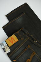 RRP €139 NUDIE STRAIGHT SVEN Men's W32/L32 Coated Denim Blue Jeans 2816_mm