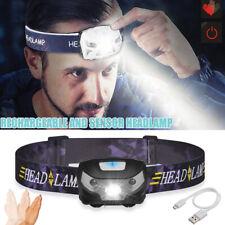 LED Headlamp Headlight Head Torch Running Camping Light Rechargeable Waterproof