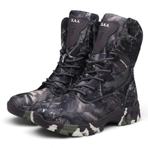 Waterproof Tactical Military High-top Hiking Hunting Wear-resistant Desert Boots