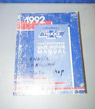 1992 Chevy Light Duty Trucks Unit Repair Service Shop Manual