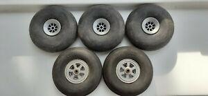 Five 3 Inch /75 Mm Dia Model Aircraft Wheels.