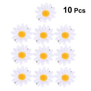10PCS Fashion Daisy Hair Clips Sunflower Fresh Hair Barrettes Hair Pins Decor