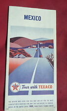 1954 Mexico  road  map Texaco  oil gas Hemishpere highway Central America