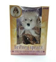 Britney Spears Official Teddy Bear CD Button Pin Bonus 2000 Oops Vtg Collectible