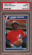 1985 FLEER # 394 ANDRE DAWSON ☆HALL OF FAME☆ MONTREAL EXPOS PSA 10 GEM-MINT